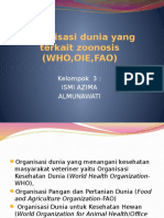 Organisasi Dunia Yang Terkait Zoonosis (WHO,OIE,FAO)