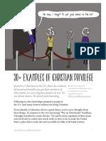 Christian Privilege Checklist