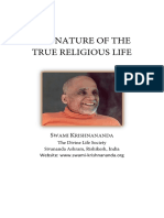 The Nature of the True Religious Life - SWAMI KRISHNANANDA