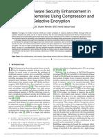 Endurance-Aware Security Enhancement in Non-Volatile Memories Using Compression and Selective Encryption