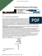 Measurements in  Metrology