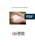 Fertilizer Requirement for Boro Rice Production in Bangladesh