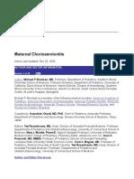 Maternal Chorioamnionitis