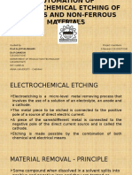 Automation of Electrochemical Etching of Ferrous and Non-ferrous