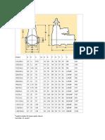 Dimensions motor .61 ASP