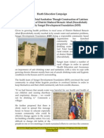 Sangat Sindh Report on Community Led Total Sanitation Latrines