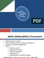 Unit 1 - ARM7, ARM9, ARM11 Processors