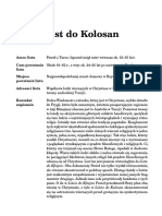 List Do Kolosan Fragment