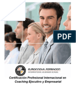 Certificación Profesional Internacional en Coaching Ejecutivo y Empresarial + Regalo 5 Créditos ReciproCoach + 1 Sesión Gratis con un Coach Profesional Online