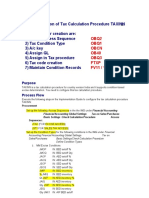 Tax Code Create Procedure