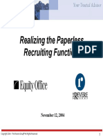 ERecruit-Realizing the Paperless Recruiting Function