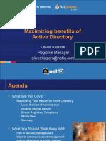 Maximizing Benefits of Active Directory