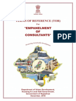 Final TOR for Empanelment of Consultants