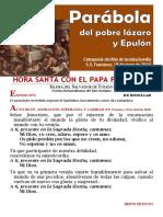 HORA SANTA CON EL PAPA FRANCISCO. Epulón y Lázaro (20)