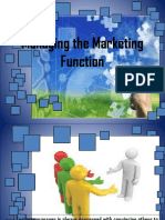Managing the Marketing Function