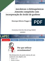 Propriedades mecânicas e eletroquímicas de revestimentos com incorporação de óxido de grafeno