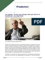 Luis Ugalde No Hay Que Entregar Nada Que Este en La Constitucion Por Hugo Prieto