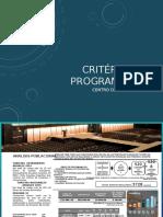 Critérios de Programación centro de convenciones