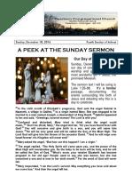 Pastor Bill Kren's Newsletter - December 25, 2016