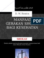 Manfaat Gerakan Sholat