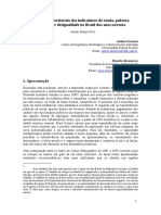 Contrastes territoriais dos indicadores de renda, pobreza monetária e desigualdade no Brasil dos anos noventa