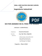 Análisis y Comentarios Sobre El Sector Agrario en El Perú y El Mundo 2