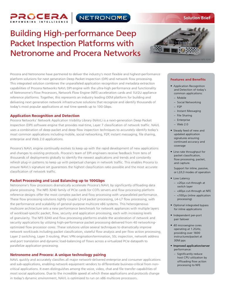 Procera Netronome SB A4 Web | Multi Core Processor
