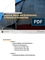 Classical Music and Architecture - A Historical Perspective