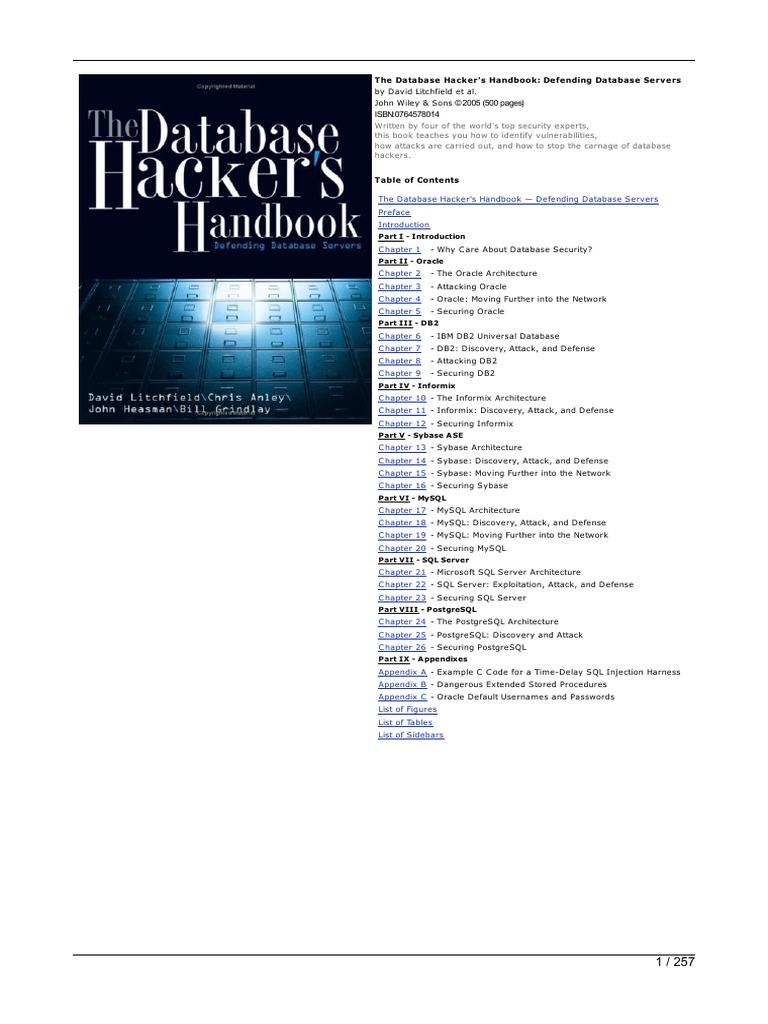 the database hacker s handbook oracle database databases rh scribd com