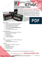 Aliant X Series Battery Datasheet