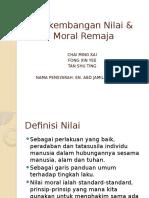PErkembangan Nilai Dan Moral
