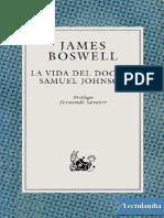 La Vida Del Doctor Samuel Johnson