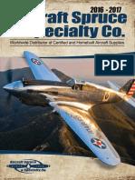 Aircraft Spruce Catalog 2017