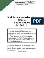 Sauer S1900UL Engine Operation Manual