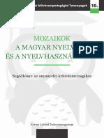 Mozaikok a Magyar Nyelvről És Nyelvhasználatról