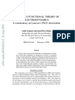 Lanczos Theory Electrodynamics