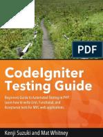 Codeigniter Testing Guide Sample
