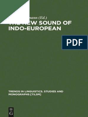 Theo Vennemann Ed The New Sound Of Indo European