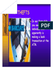 ATM Thefts Ppt