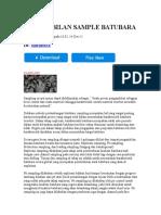 Pengambilan Sample Batubara