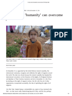 A Crisis Only 'Humanity' Can Overcome _ the Daily Star