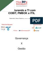 Palestra-Cobit ITIL PMBOK (1)