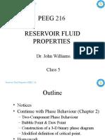 PEEG 216 Reservoir Fluid Properties - Class 5 - 14&15FEB10 (Updated HW Due Date)