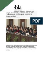 20.12.2016 Puebla on Line - RMV Se Compromete a Continuar Redoblando Esfuerzos Contra La Inseguridad
