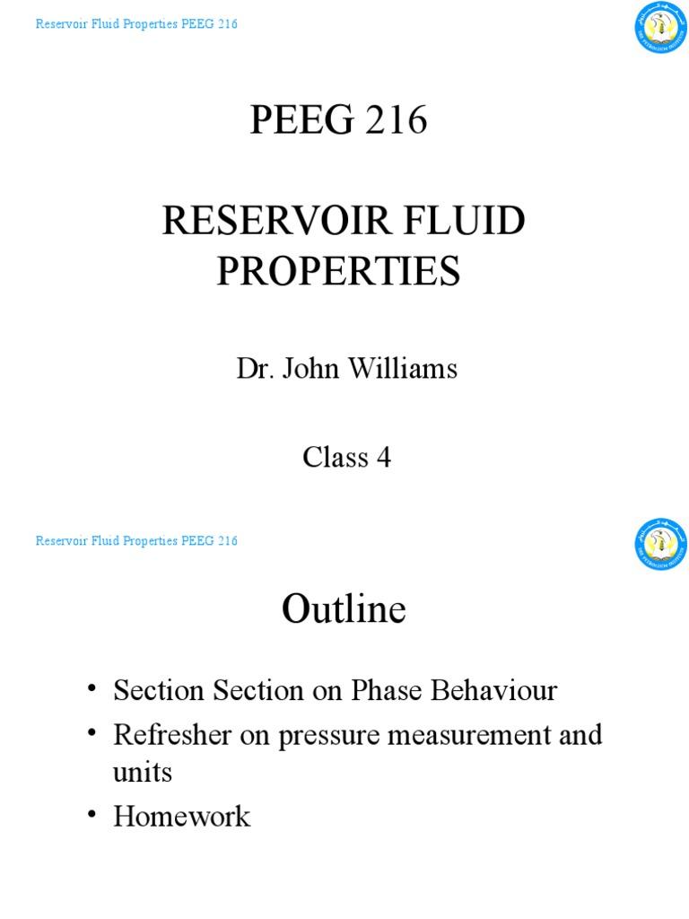 Peeg 216 reservoir fluid properties class 4 910feb10 phase peeg 216 reservoir fluid properties class 4 910feb10 phase matter pressure ccuart Image collections