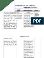 Planificación MATEMÁTICAS Nivel Transición (Autoguardado)