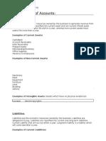 1- Classification of Accounts