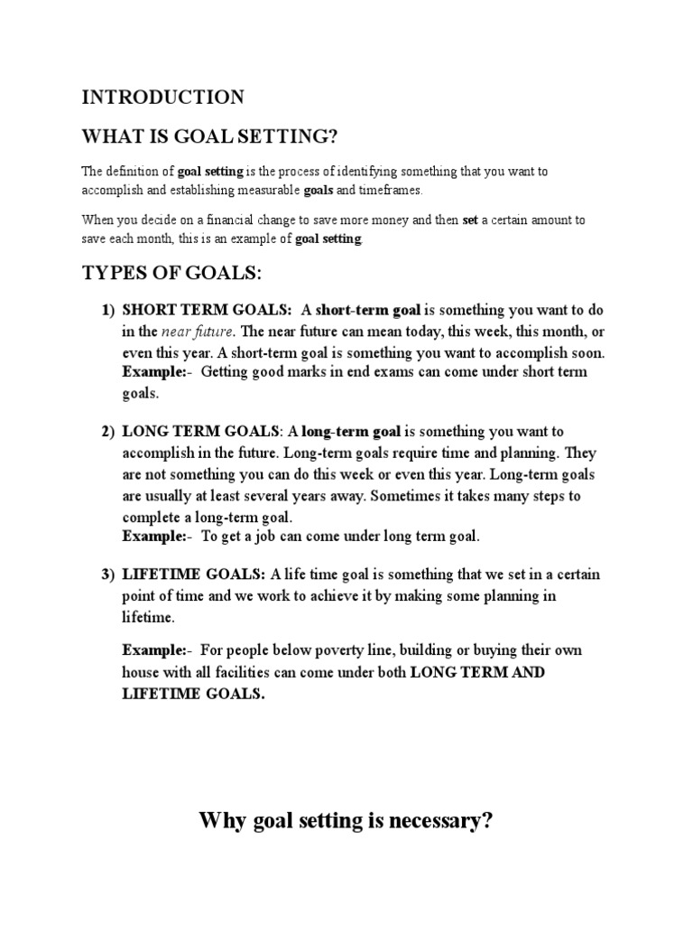goal settings - team 2 (1) | goal | goal setting