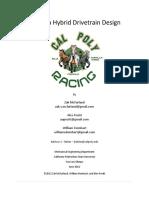 Formula Hybrid Drivetrain Design