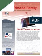 Fritsche Family Mission Newsletter - Nov Dec 2016